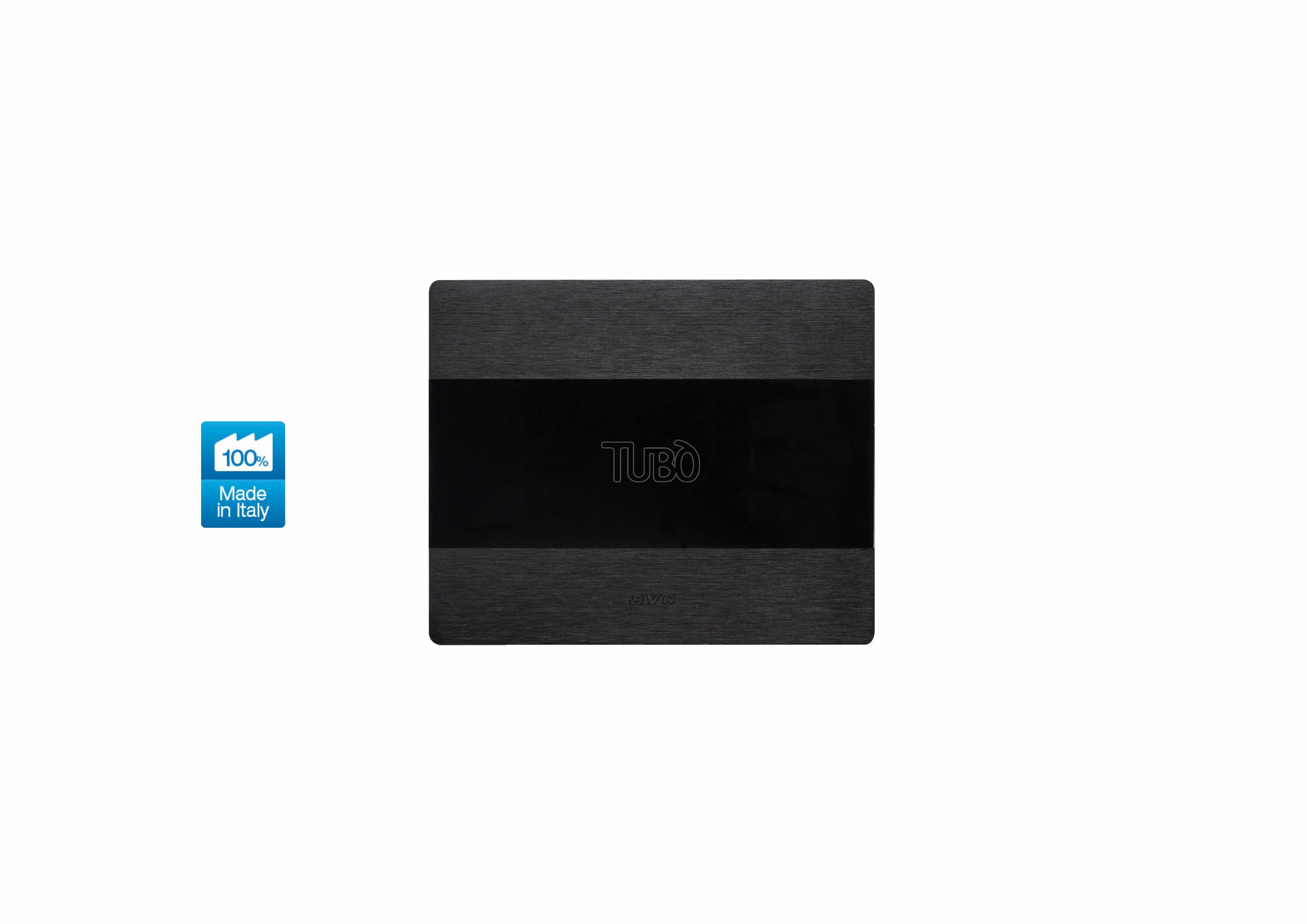 Вакуумна розетка TUBO New Air Allumia Touch, Ave Systema 44 Dark