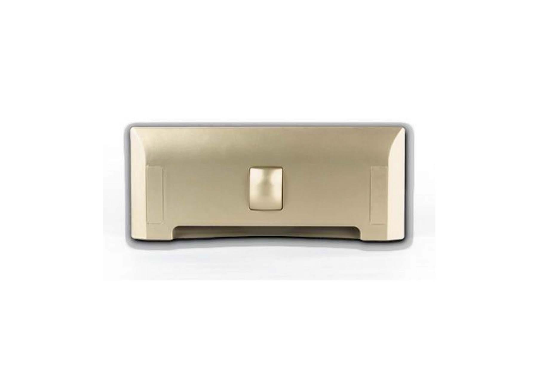 Щілинна вакуумна розетка-совок LEOVAC UNO, колір золотий