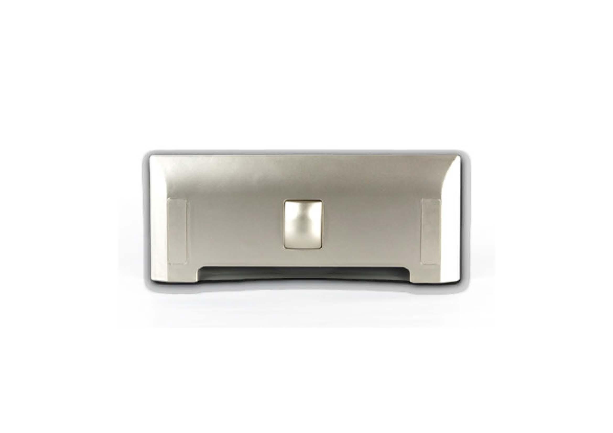 Щілинна вакуумна розетка-совок LEOVAC UNO, колір шампанського