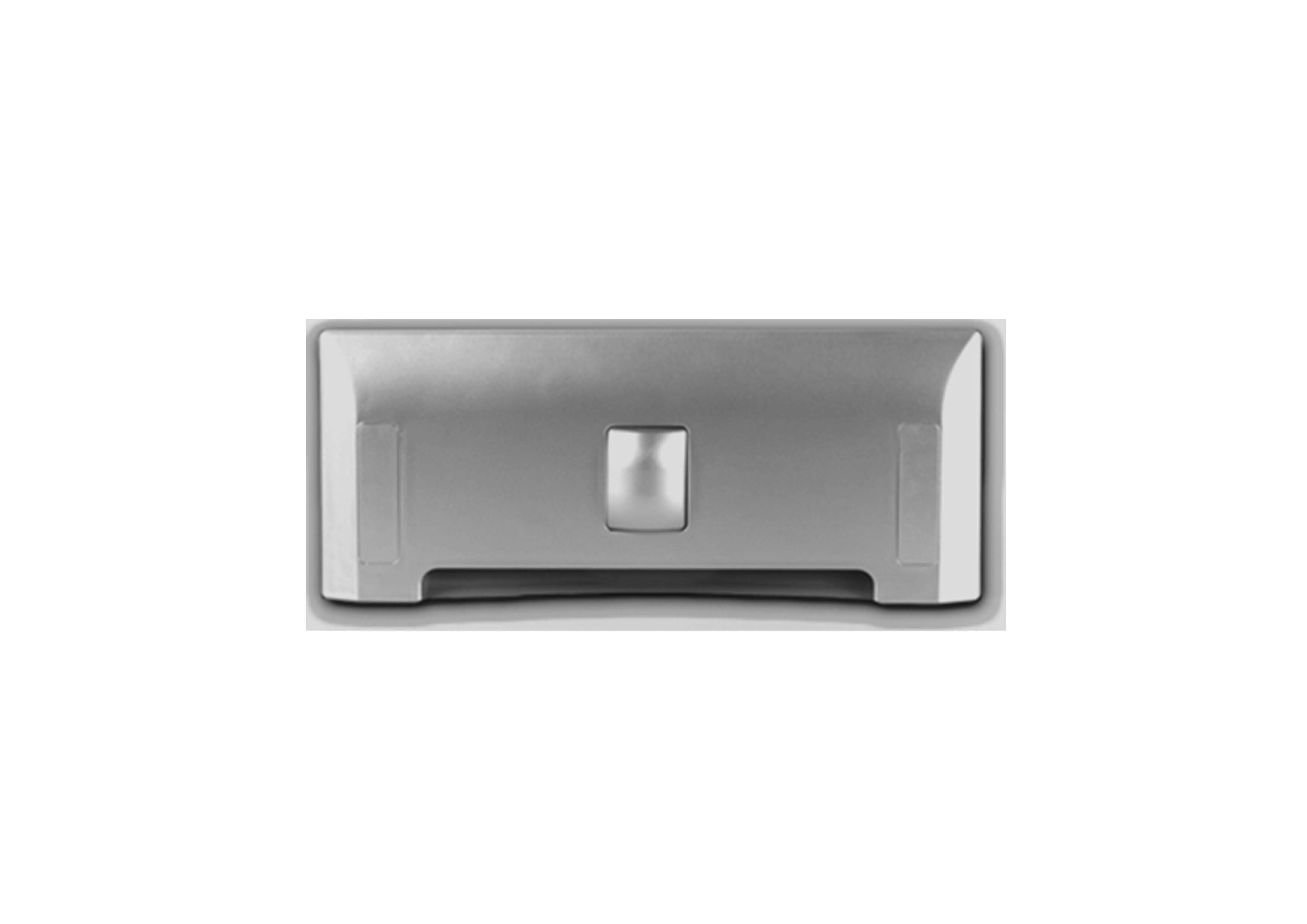 Щілинна вакуумна розетка-совок LEOVAC UNO, колір срібний