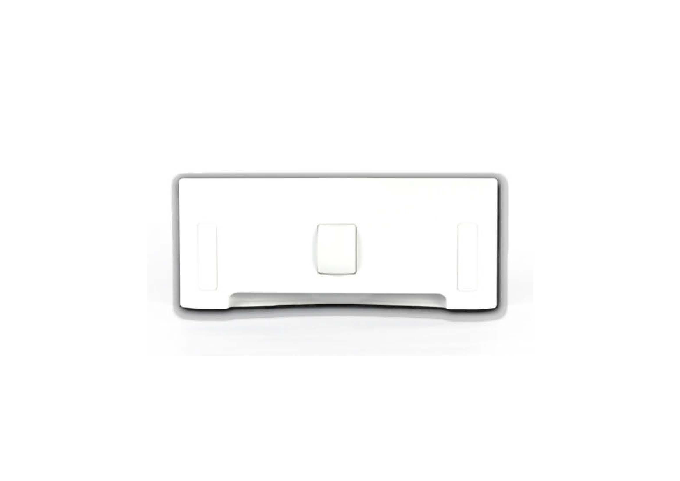 Щілинна вакуумна розетка-совок LEOVAC UNO, колір білий