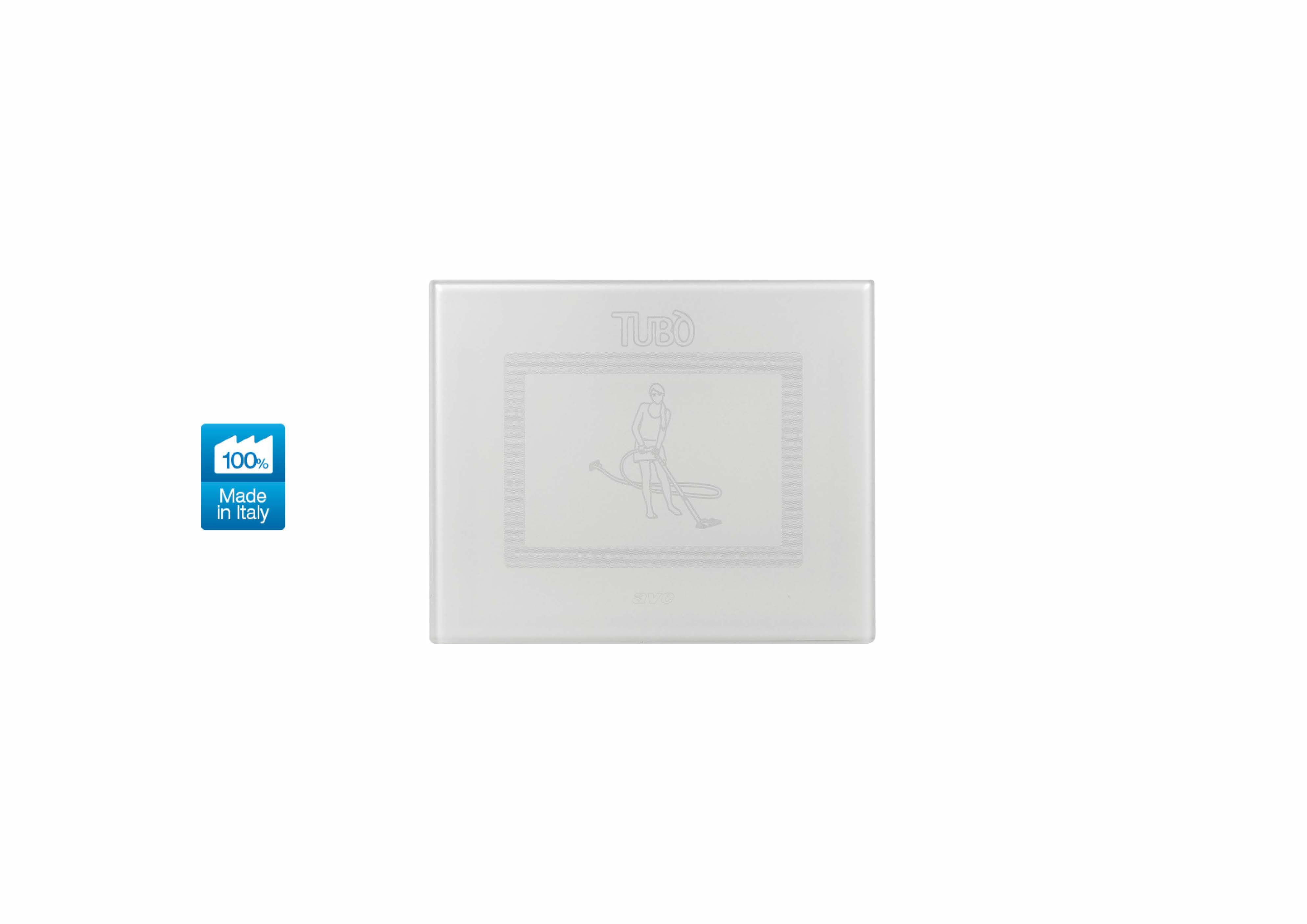 Вакуумна розетка TUBO New Air Touch, Ave Systema 44 glossy white