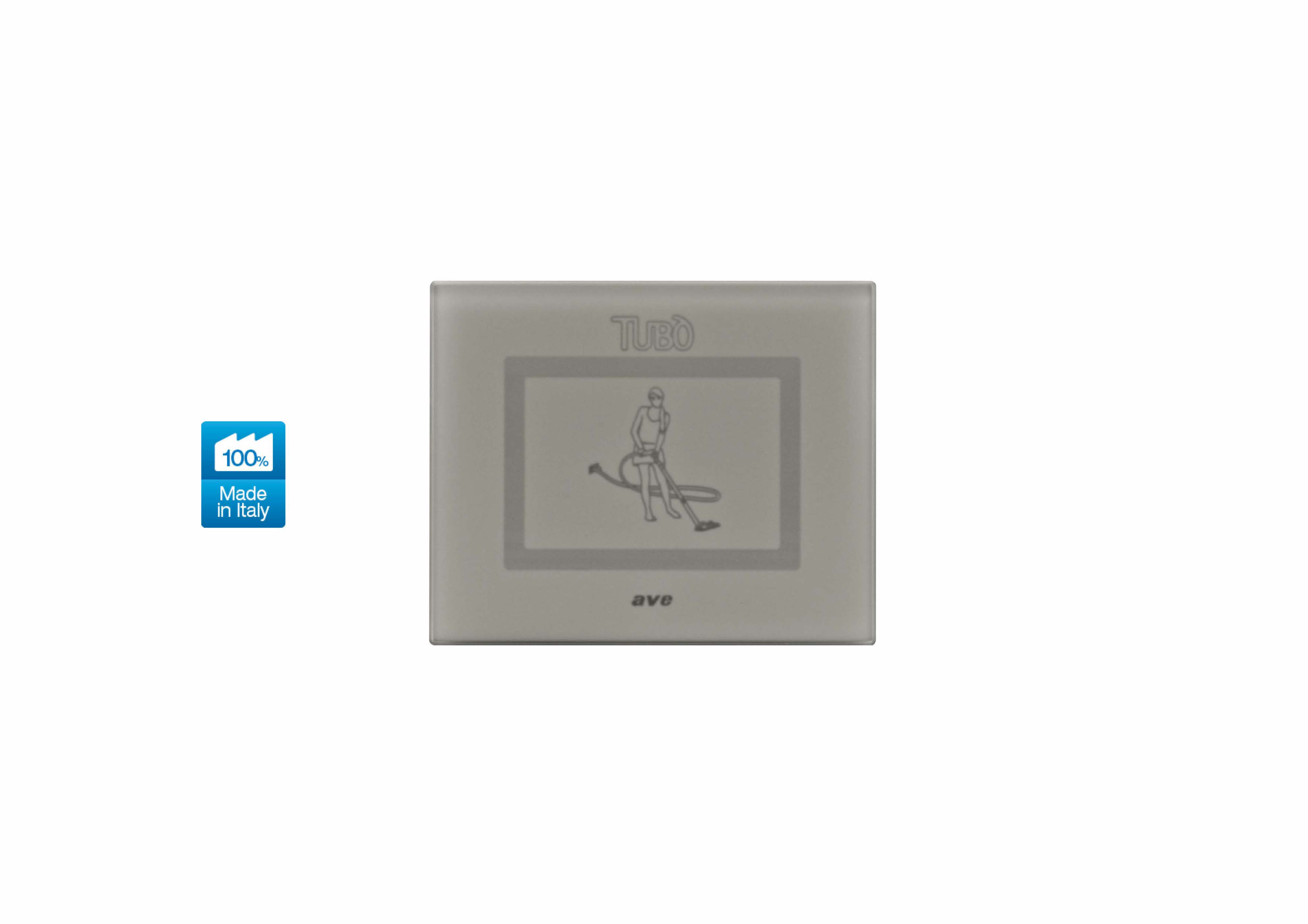 Вакуумна розетка TUBO New Air Touch, Ave Systema 44 silver grey