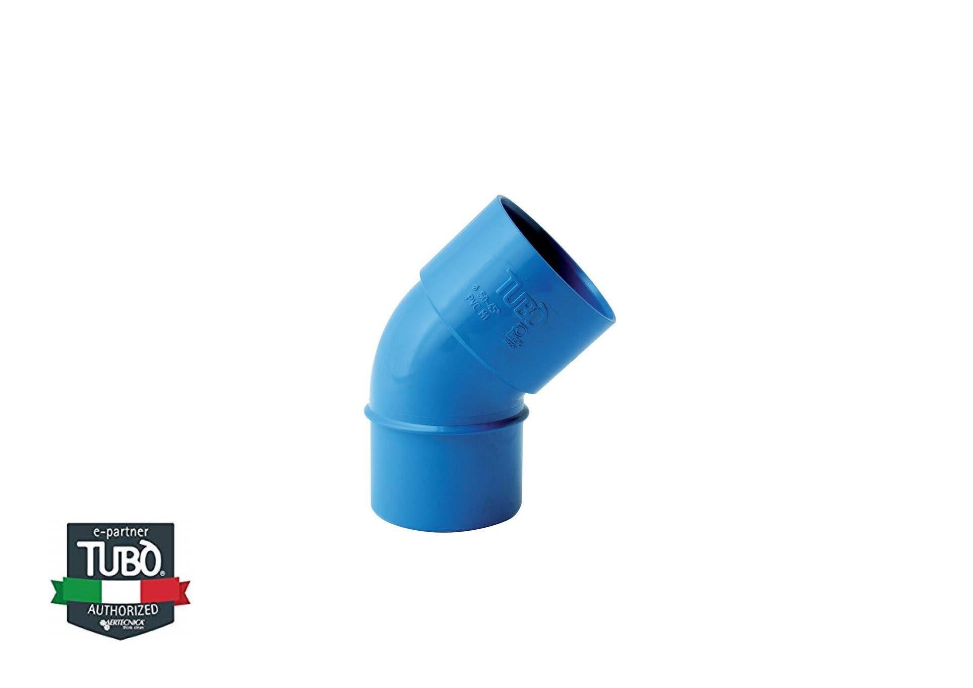 45° MF PVC коліно Ø 50