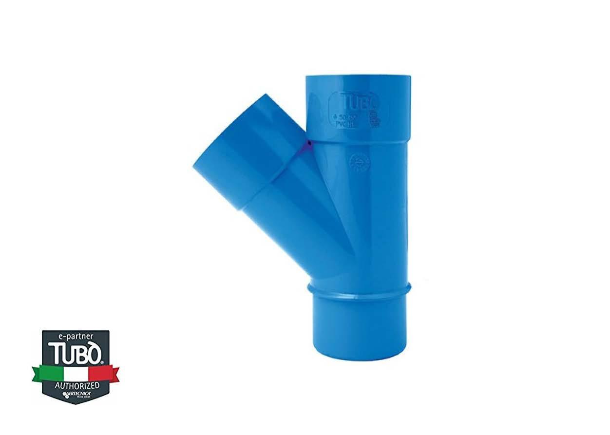 45° MF PVC трійник Ø 50