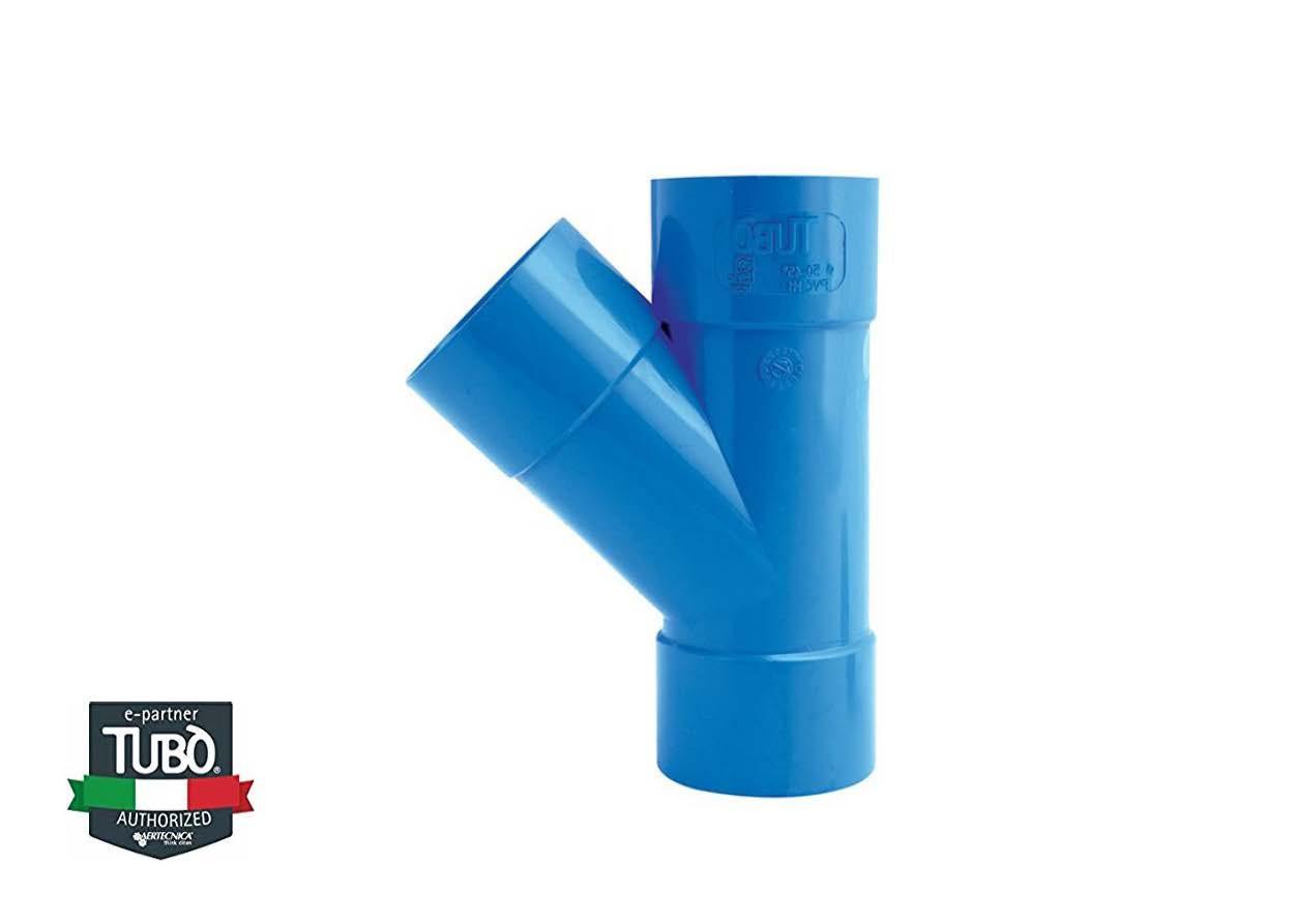 45° FF PVC трійник Ø 50