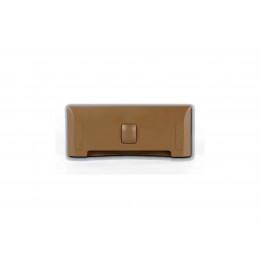Щілинна вакуумна розетка-совок LEOVAC UNO, колір світло-коричневий
