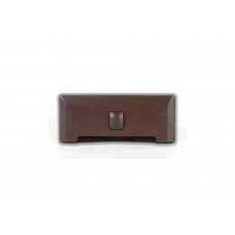 Щілинна вакуумна розетка-совок LEOVAC UNO, колір темно-коричневий