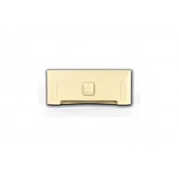 Щілинна вакуумна розетка-совок LEOVAC UNO, колір кремовий