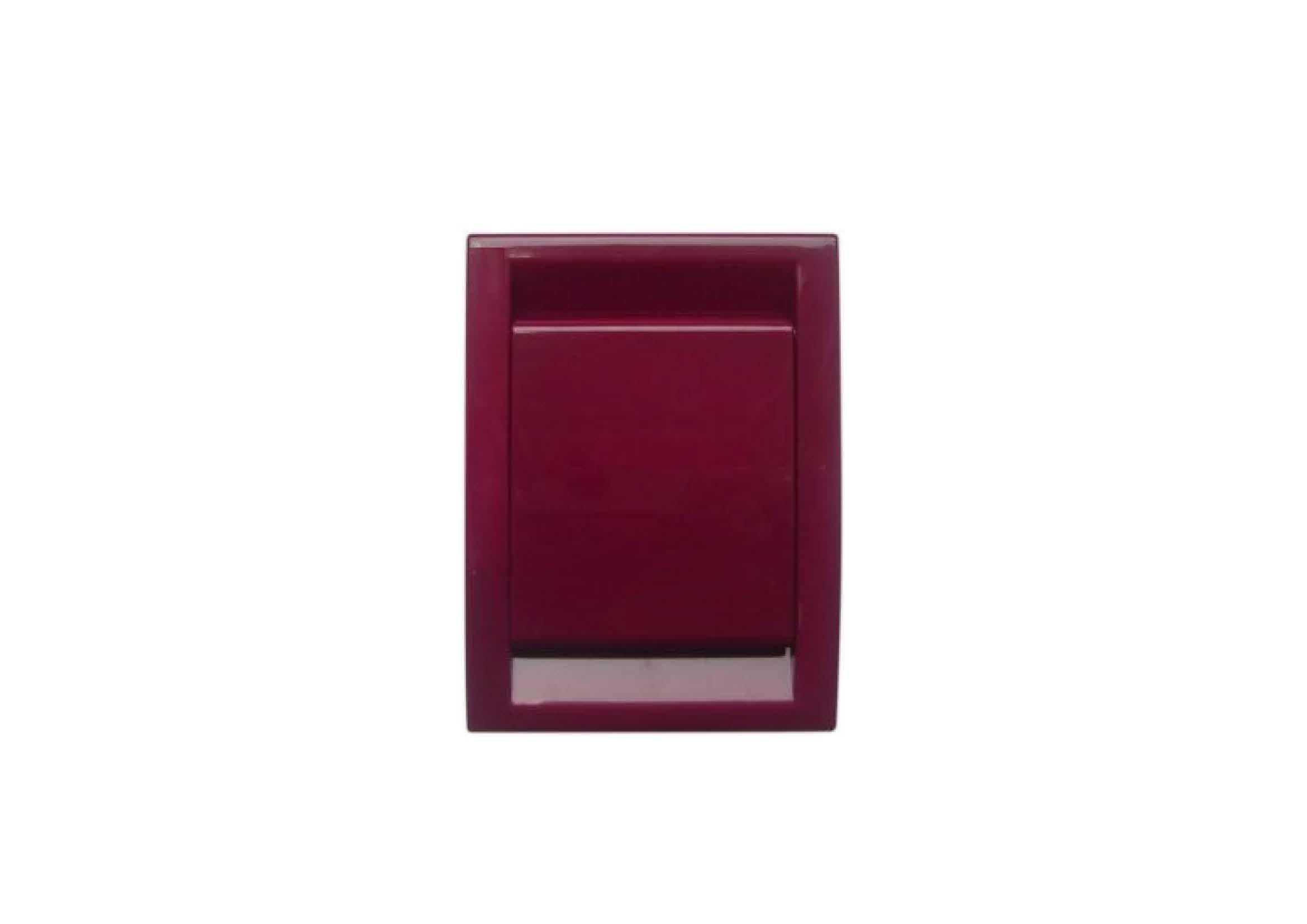 Вакуумна розетка DECO, колір бордовий