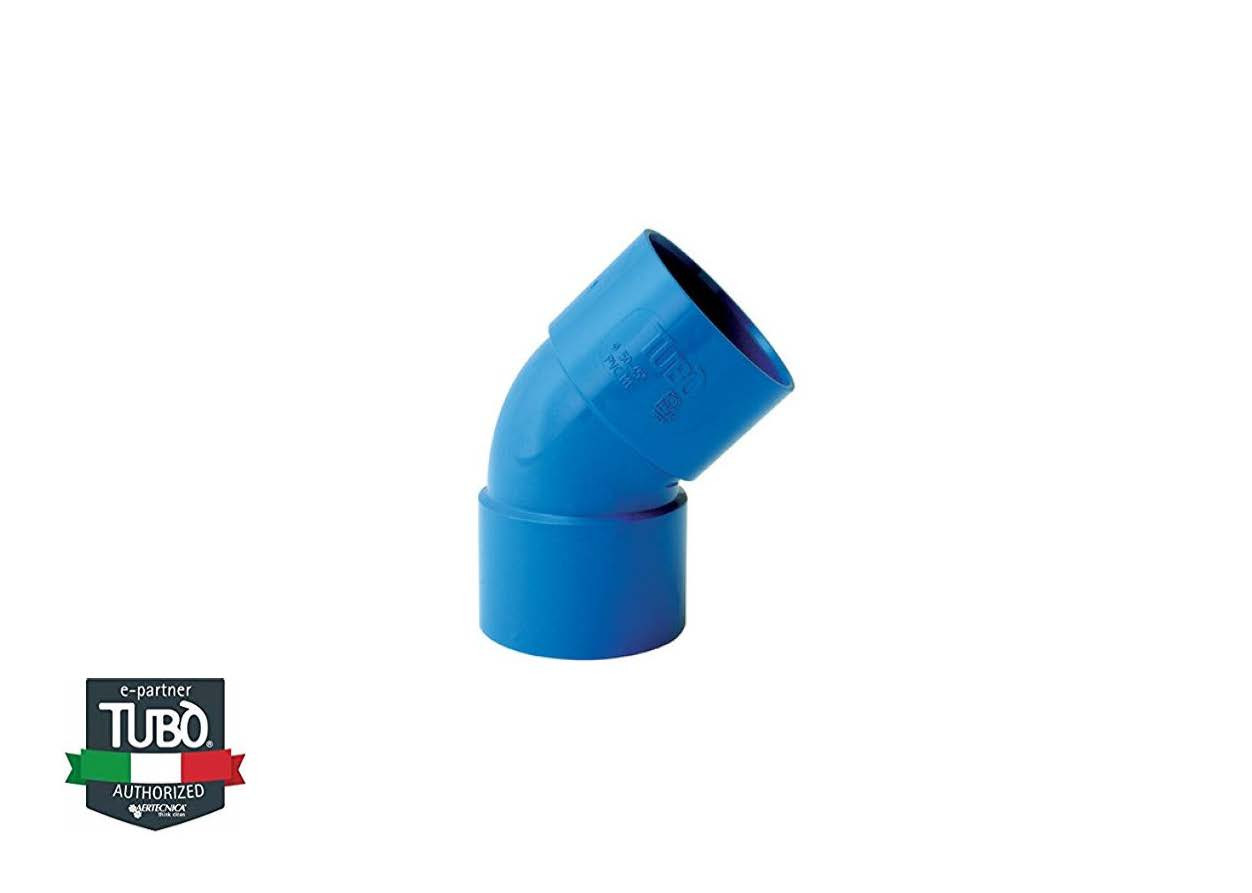 45° FF PVC коліно Ø 50